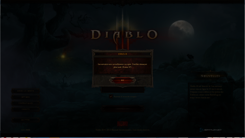 Diablo III Erreur 37