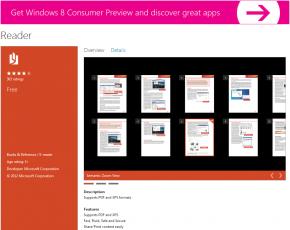 Reader Windows 8 application