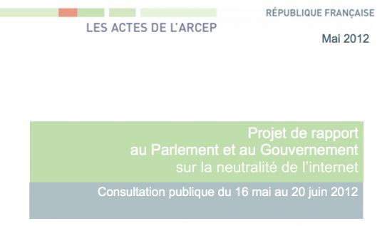 ARCEP neutralité du net