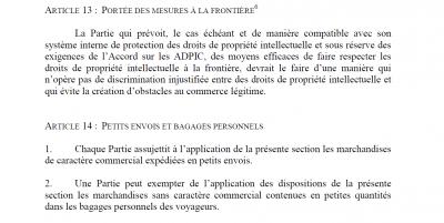 ACTA article 14