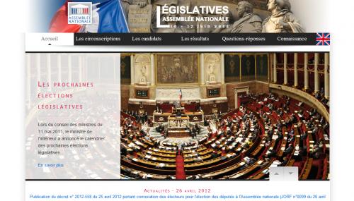 Legislatives 2012 Site officiel