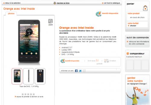 Orange avec Intel Inside