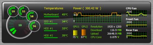 AIDA64 v2.50 Sensor Panel