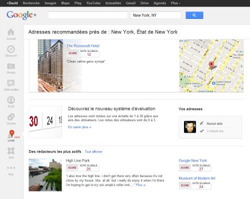 Google+ recherche local
