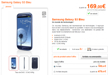galaxy SIII stock Bouygues Orange