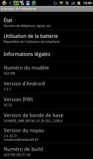 Orange avec Intel Inside Captures Android 2.3.7