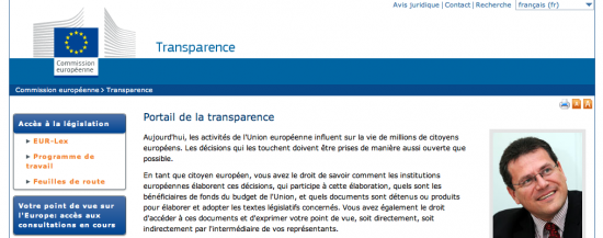 portail transparence UE