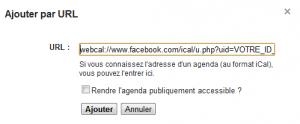Google Agenda Facebook Anniversaires