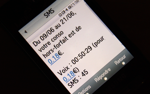 free mobile suivi conso SMS