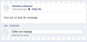 Facebook Edition de message