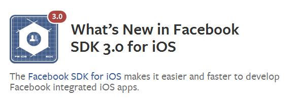 facebook ios 6 sdk 3.0