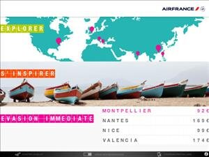 Air France iPad application