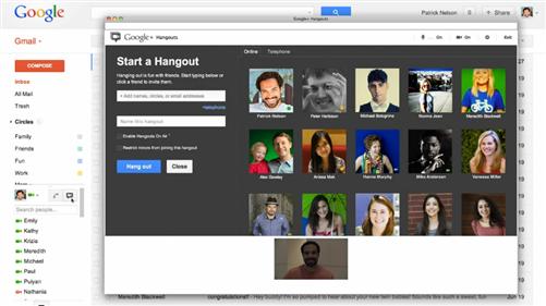 gmail intégration google+ hangouts