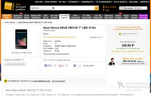 Fnac Nexus 7 Google