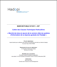 hadopi marché public
