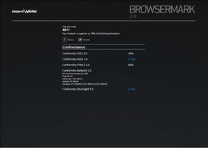browsermark 2.0 Chrome 23 PC