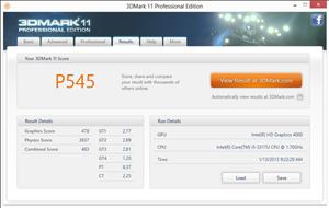 Giada i53 3DMark11