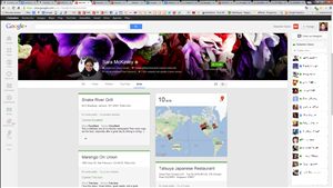 Google+ Design page profil
