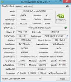 MSI GT70 GeForce GTX 780M
