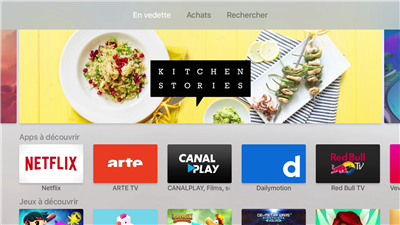 Nouvelle Apple TV App Store Lancement
