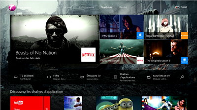 Xbox One nouvelle interface