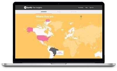 Spotify Fan Insights géographie