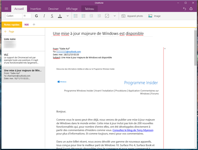 outlook onenote