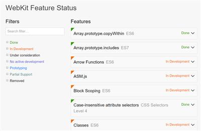 webkit statut