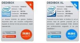 dedibox offre microsoft intel serveur dédié