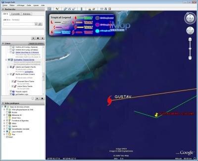gustav ouragan cyclone google earth