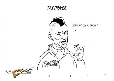 Sacem Tax Driver dessin