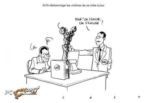 AVG dedommagement Windows