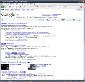 elysée site dangereux google