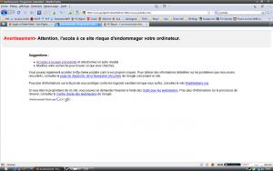 google Ce site risque d'endommager votre ordinateu