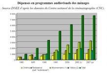 Cinema depenses menages 1980-2007