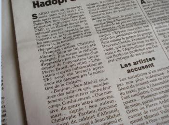 lettre tardieu albanel TF1 viré