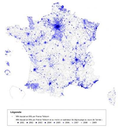 France carte T1 2009 degroupage