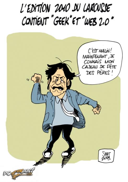 Petit Larousse 2010 geek web dessin