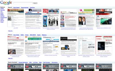 google flipper news actualité présentation visuell