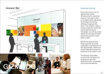 Microsoft boutique Answer Bar