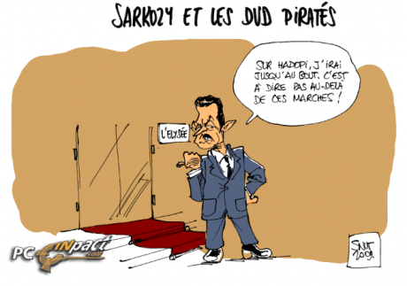 elysée pirate 400 DVD copie nicolas sarkozy