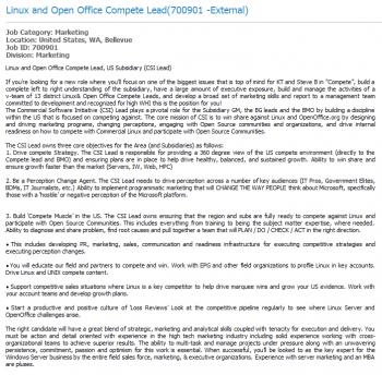 microsoft annonce emploi open source