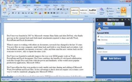 Docverse plugin Microsoft