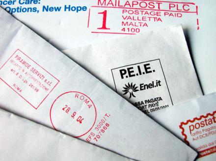 courrier lettre menace