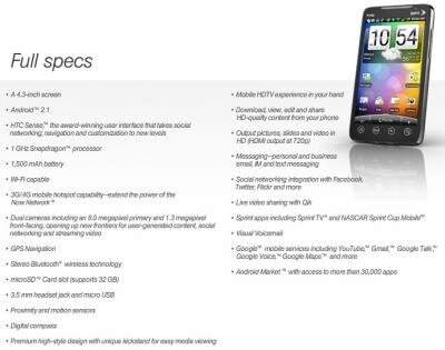 HTC Evo 4G Sprint