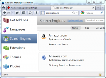 firefox gestion extensions