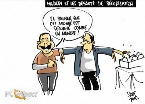 Hadopi Defauts Securisation Dessin
