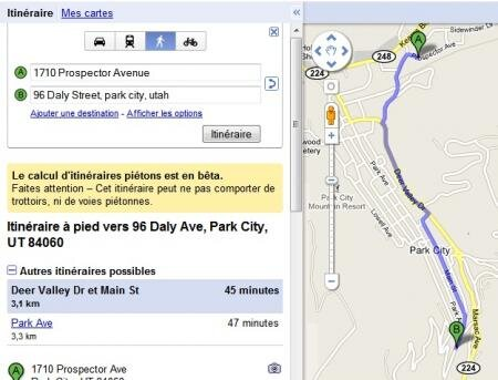 google maps béta procès