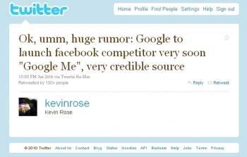 kevin rose twitter google-le me