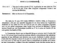 TVA taux reduit mise en demeure commission européenne